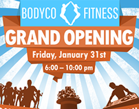 "Poster and Flyer for ""BodyCo Fitness"""