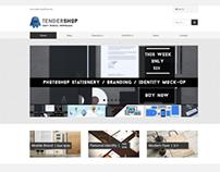 Tendershop Responsive Easy Digital Downloads Theme