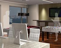Interior Renderings - Hi-rise Apartment Amenity Spaces