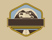 Vintage RV Camper Badges with Mountains