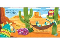 """""""The Little Blue Armadillo"""" Children's Book Spread"""