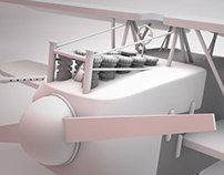Airplane 3D Modeling, Fokker D.VII