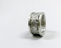Silver ring_ surface treatment 'reticulation' . 2014 .