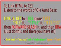 Pneumonic for linking HTML to CSS