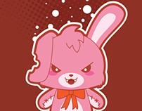 Crazy Bunny Vector