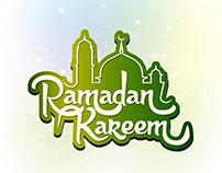 Vector Ramadan Kareem Typography Mosque