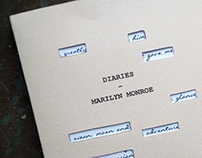 Marilyn Monroe typographic book cover
