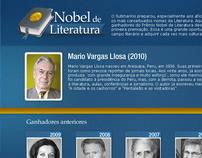 Hotsite Nobel de Literatura