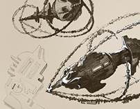Sci-fi sketches for M.C.