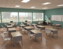 3D Images of Educational Interiors