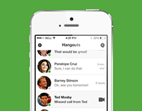 Google Hangouts iPhone App