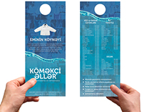 Creative flyer concept for Köməkçi Əllər dry-cleaning