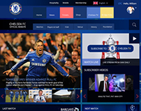 Chelsea Football Club Responsive Design Concept