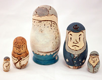 Moby Dick Nesting Doll