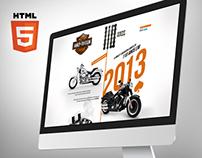HARLEY DAVIDSON - Hot Site 110 Anos - HTML5