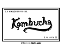 Label for Home-Brewed Kombucha