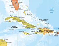 Carribean political maps