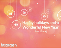 New Year Greeting Card HTML5 Animation