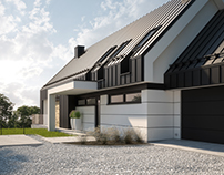 MODERN SINGLE-FAMILY HOUSE, (vis. for lk-projekt.pl)