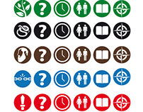 The Bible in a Day logo and icon set