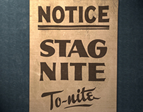 Stag Nite Showcard