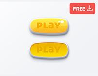 Clean Play Button Psd