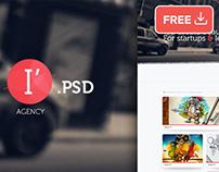 I Agency Psd Website