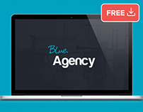 Blue Agency one page website PSD