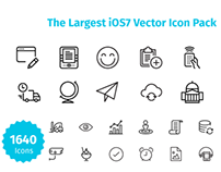 iOs Vector Icon Pack (1640)