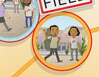 Poster design for Médecins Sans Frontières