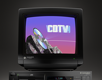 Commodore 1084S black monitor with CDTV