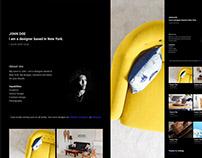 Barts Free Simple & Minimal Portfolio Website / Night