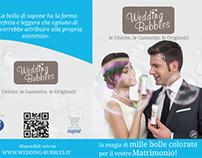 Tri fold brochure for Wedding Bubbles