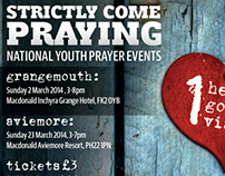 Strictly Come Praying - event postcard