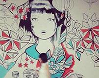 "'Missushi' mural for ""Flatofis"""