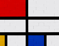 RE|CREATING Mondrian's Paintings with LEGO Bricks