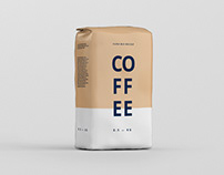 Coffee Paper Bag Mockup