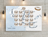 Middle earth wedding seating plan
