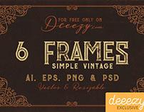 6 Free Vintage Frames