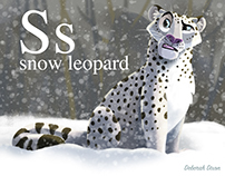 S is for Snow Leopard