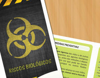 flyer sobre riscos biológicos | biohazards flyer
