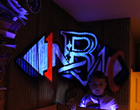 the  Anamorphic Fluorescentic 'R'