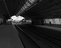 Um dia na estação de trem