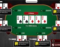 Responsive Online Poker Game UI/UX