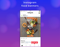 Instagram food banners