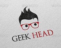 Geek Head Logo Template