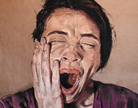 """Portrait of a """"sleepy girl"""" for a hostel in Istanbul"""