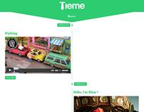 Tieme - Responsive Timeline Blog