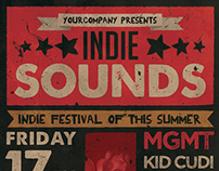 Indie Sounds Flyer