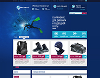Opendive website design
